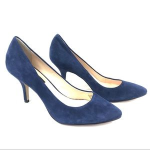 INC | Blue Suede Heels
